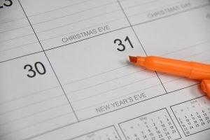 dec 31st calendar day